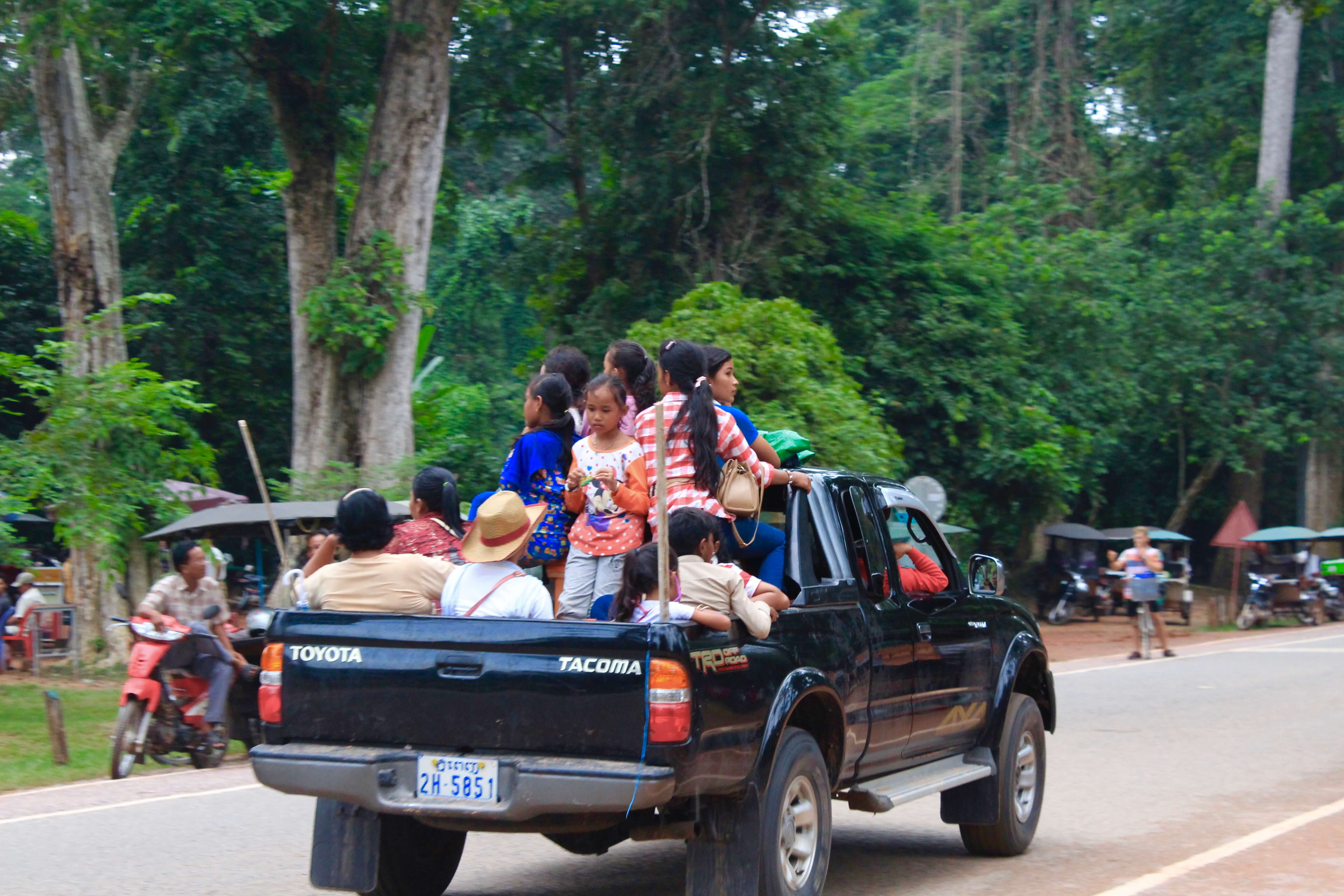carpooling in cambodia