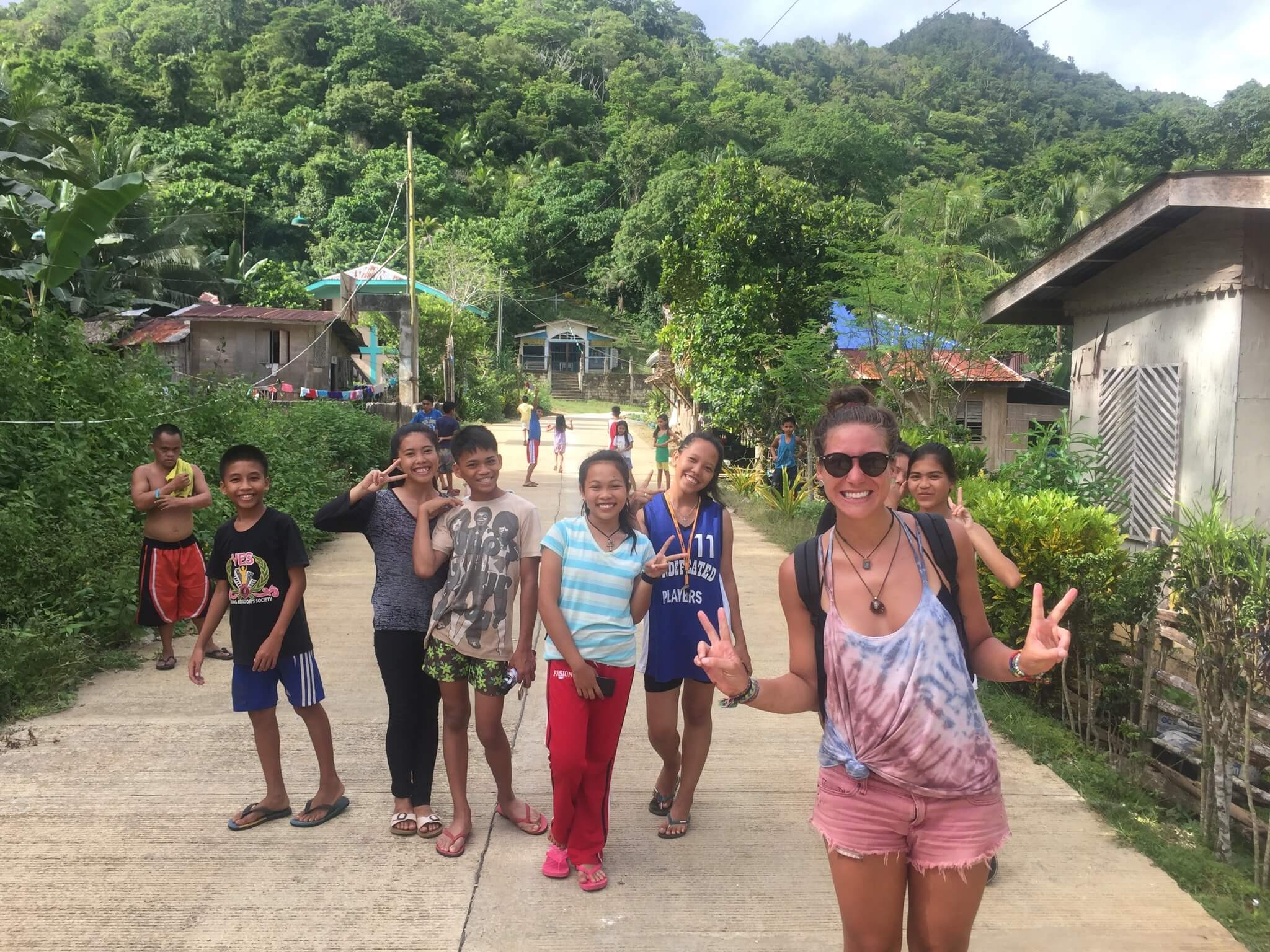 exploring caves with locals on bohol
