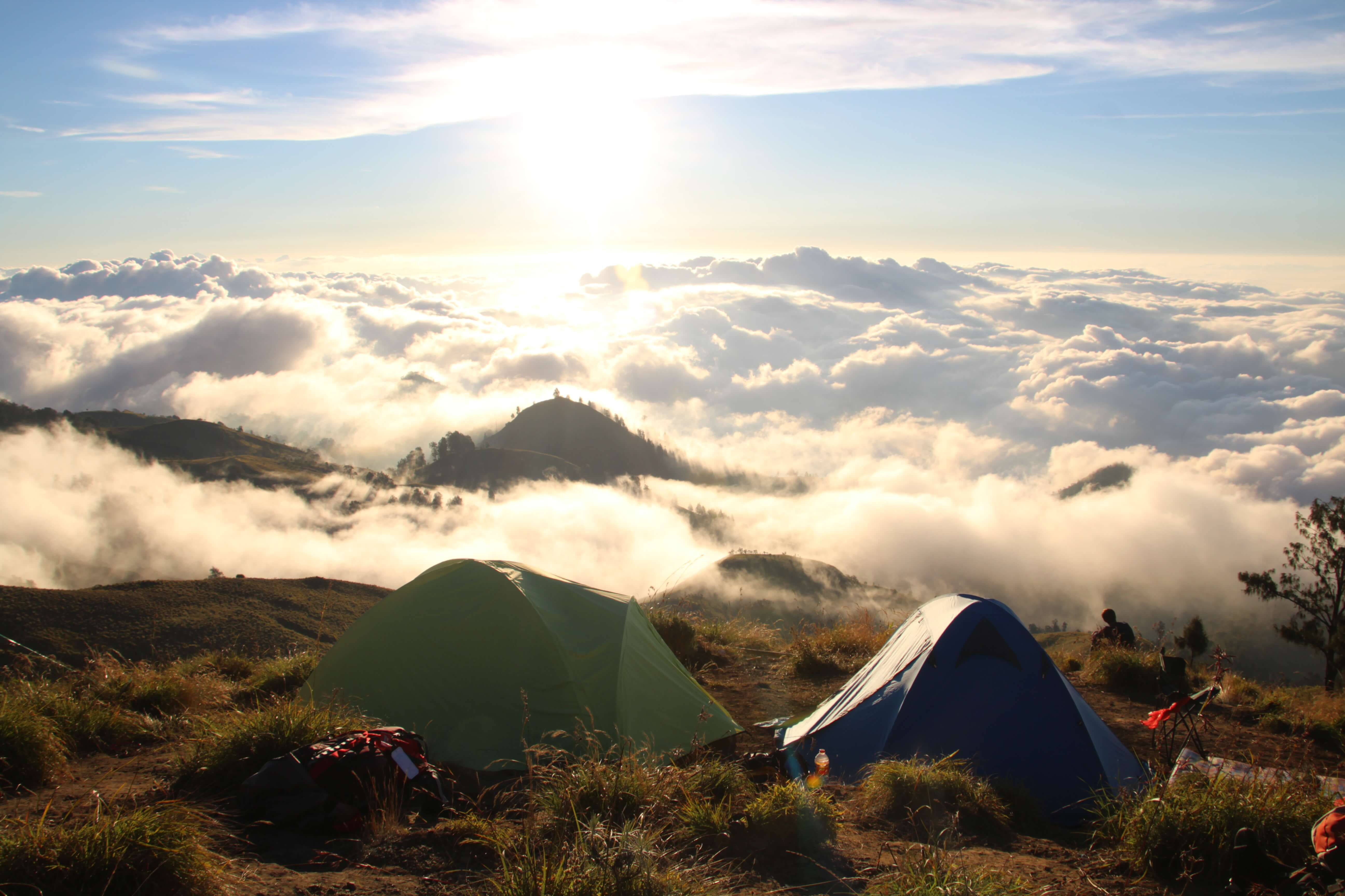 camping on my rinjani