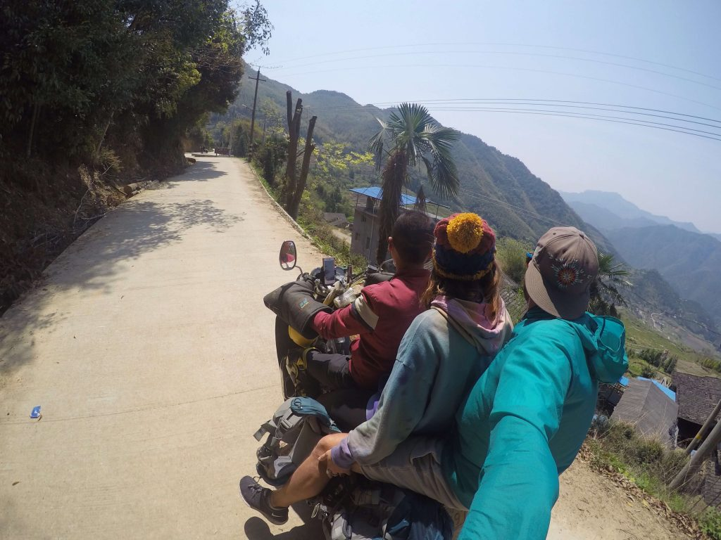 motorcycle ride to rice terraces in fujian