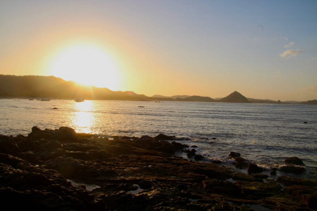 beaches of south lombok sunrise over kuta bay lombok