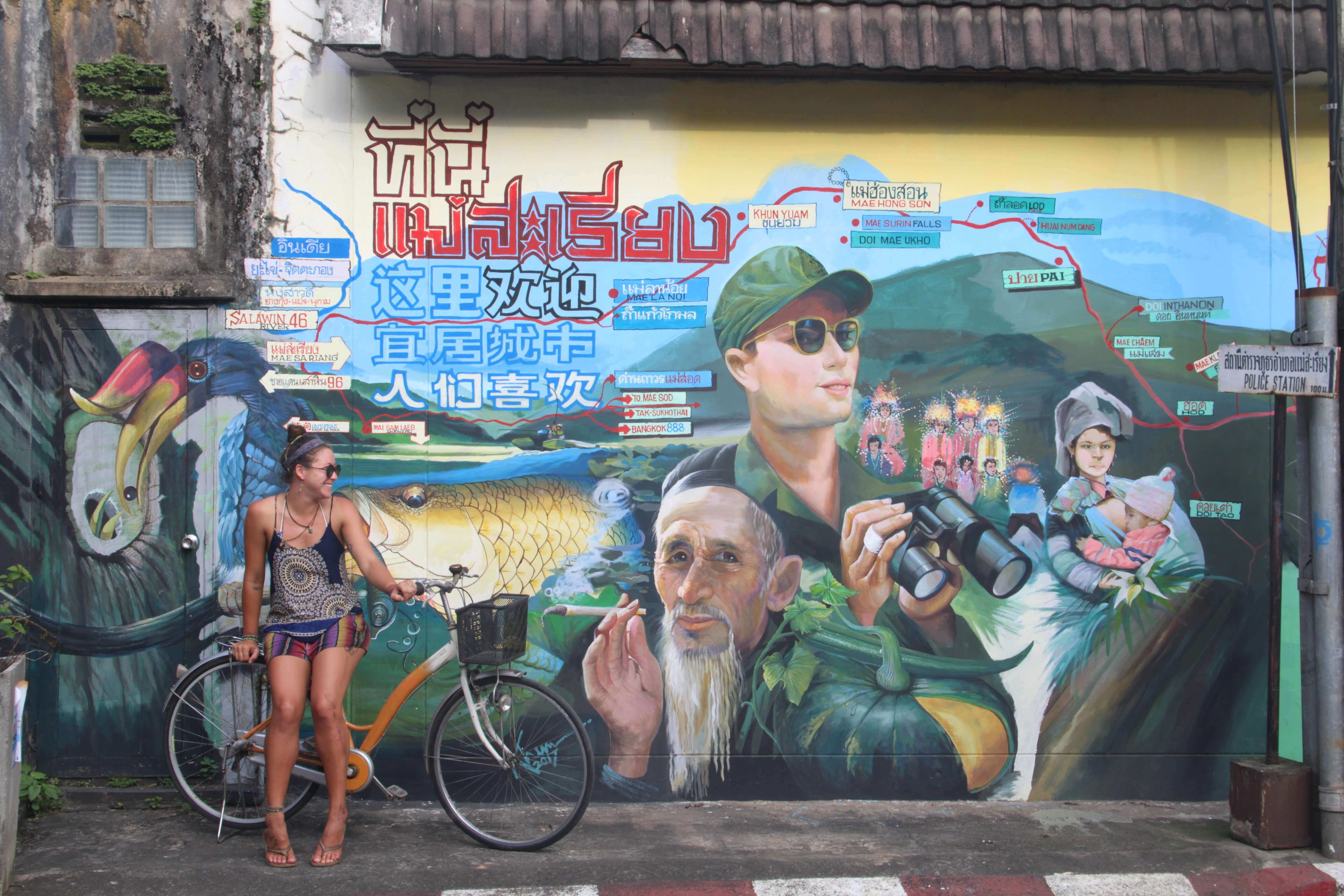 mural in mae sariang