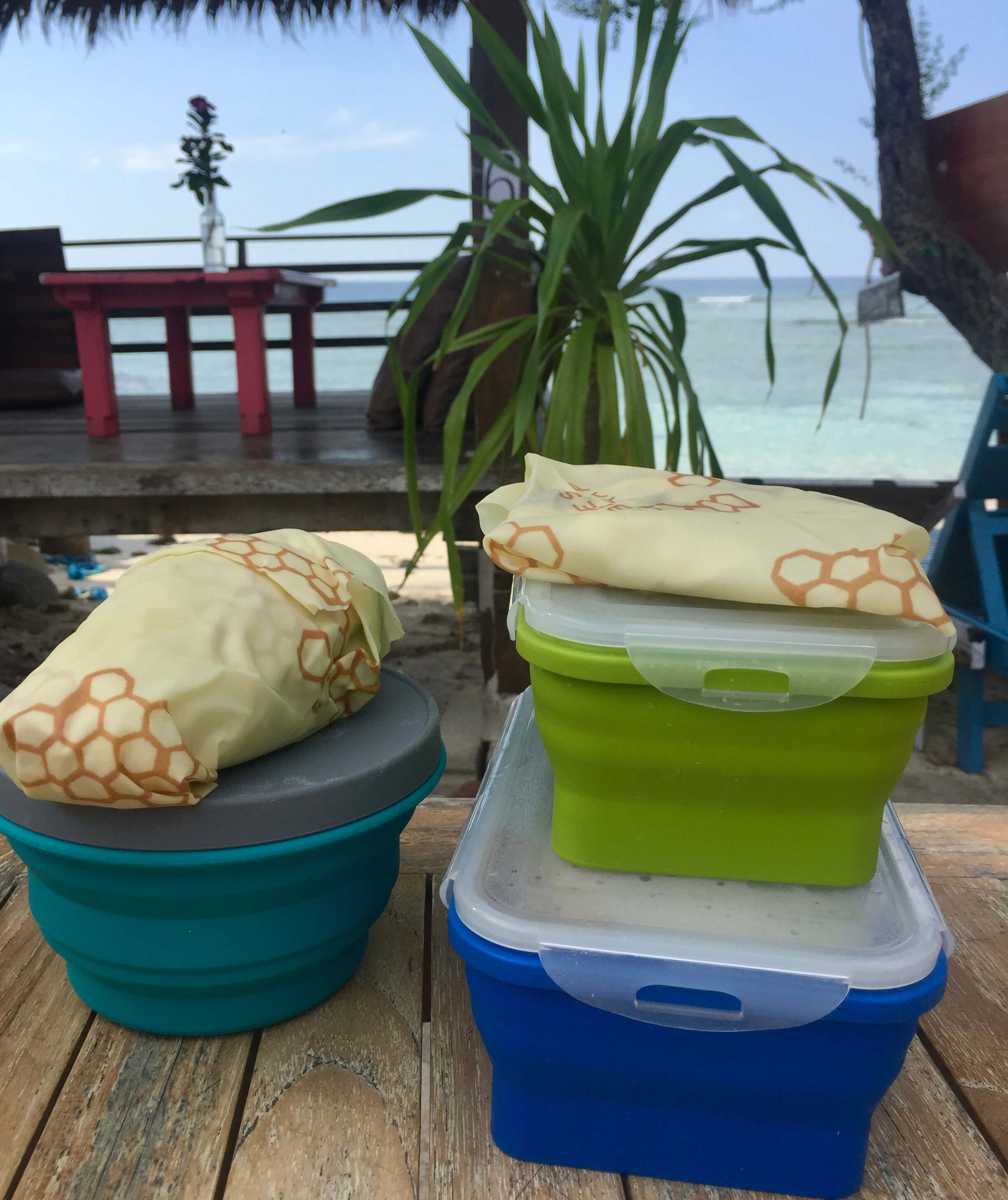 travel food storage use less plastic when traveling