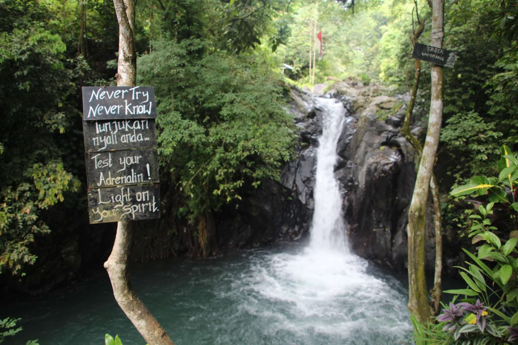 kroya waterfalls in bali