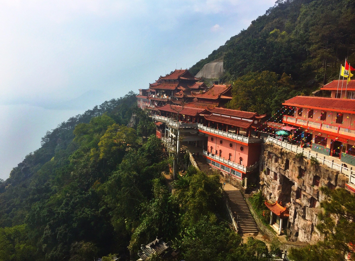 taoist temple at shizhu mountain china