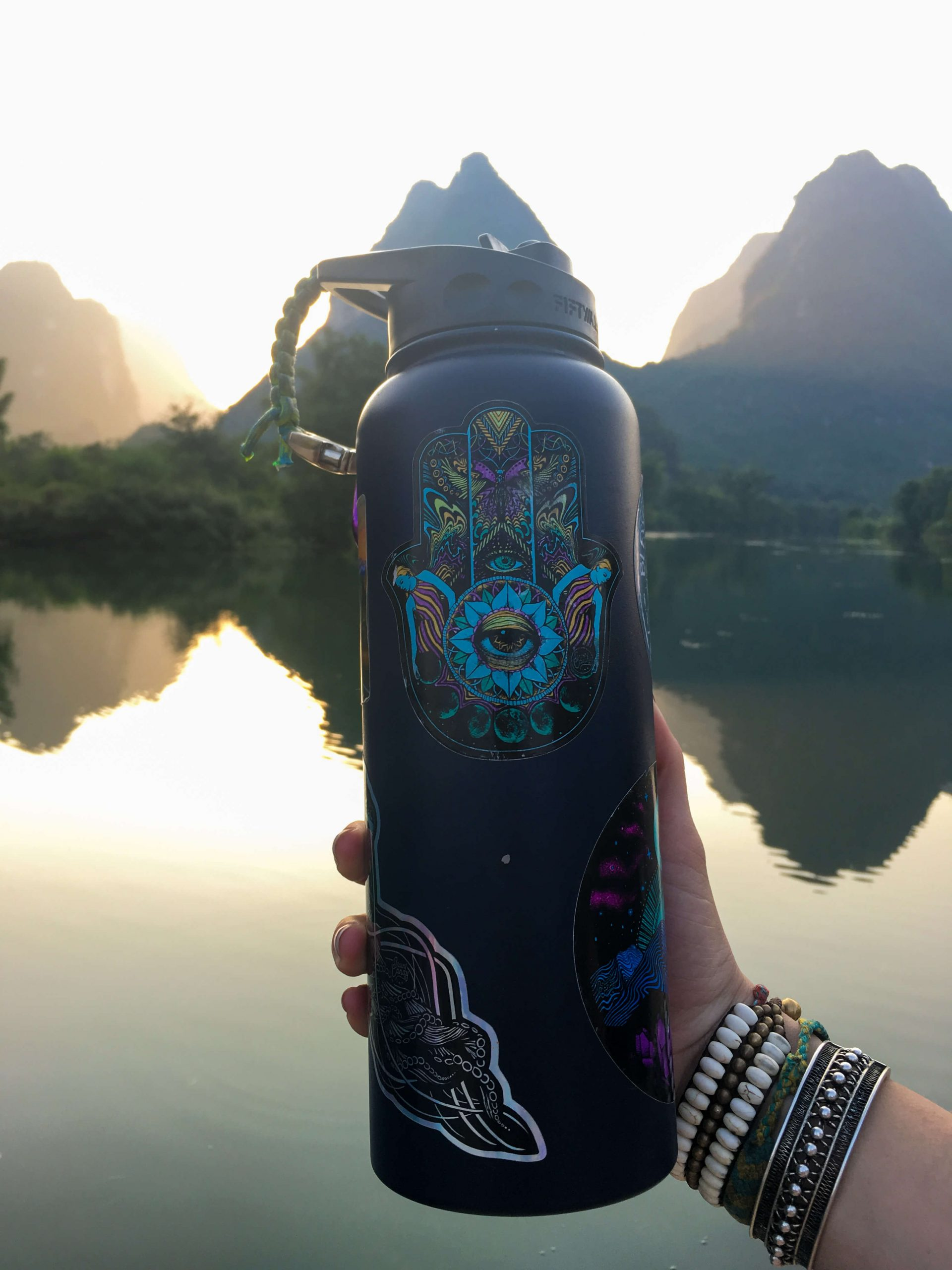 first step to being a sustainable traveler water bottle