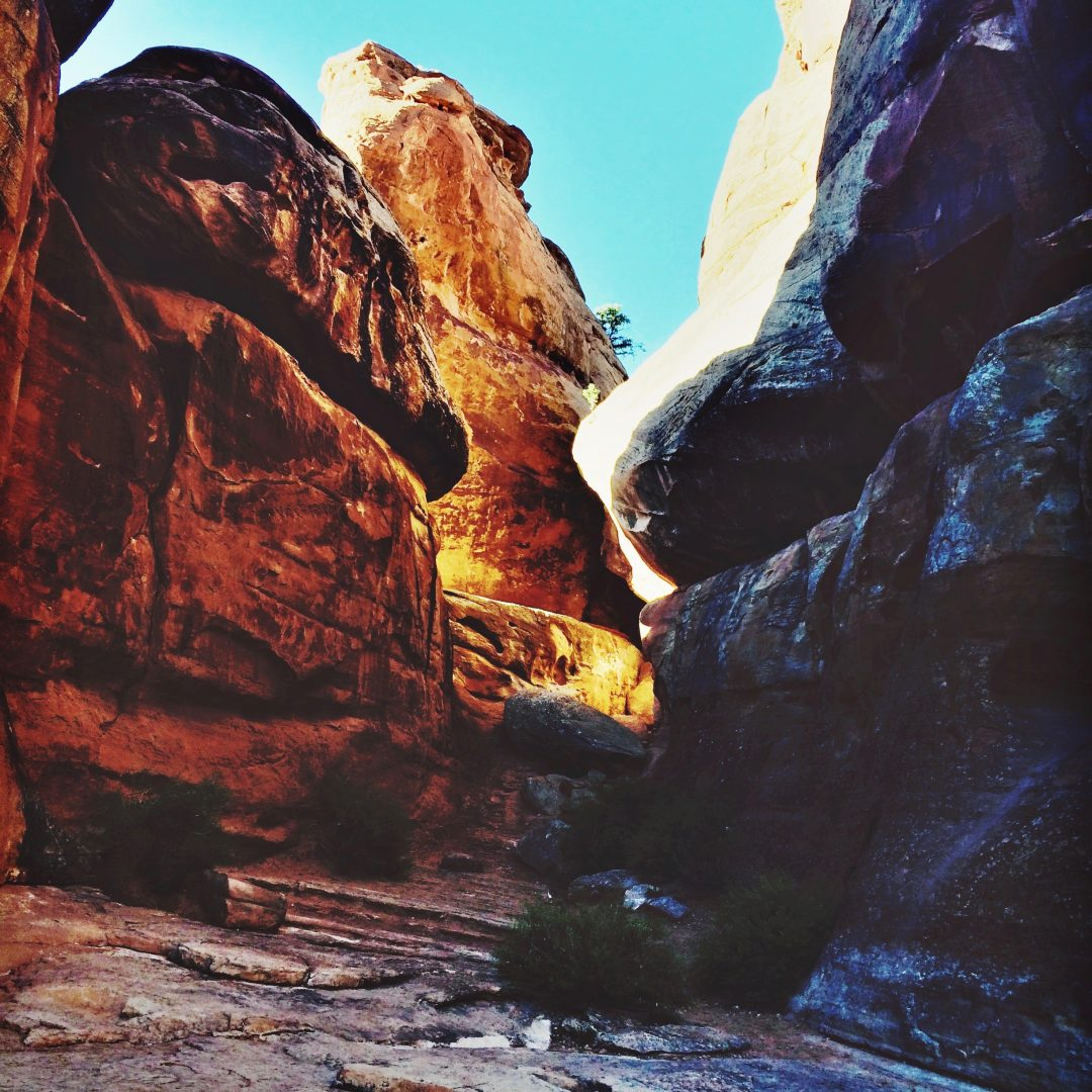slot canyon moab